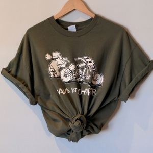 Vintage Green Graphic T-shirt Size XL